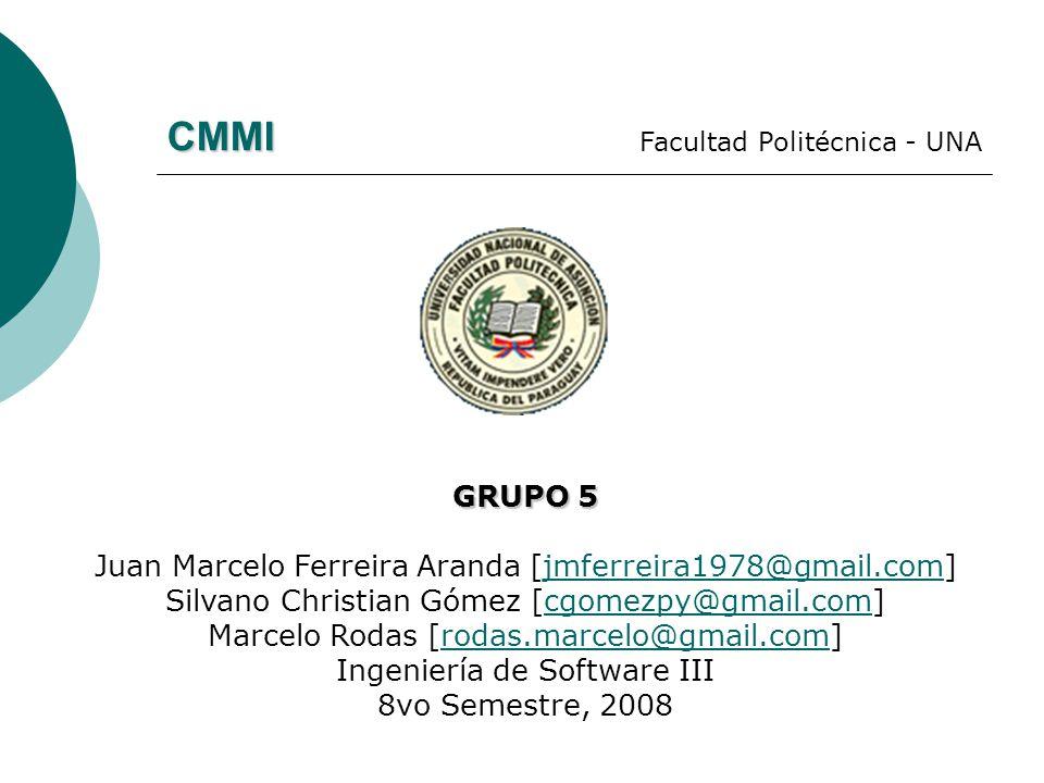 CMMI GRUPO 5 Juan Marcelo Ferreira Aranda [jmferreira1978@gmail.com]